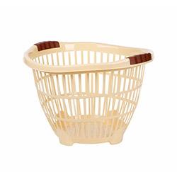 Modelüks Ayaklı Küçük Boy Çamaşır Sepeti  - Krem