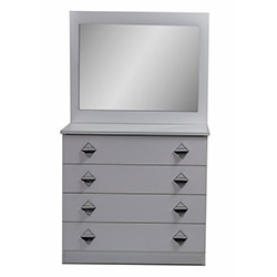 İnci Aynalı Şifonyer - Beyaz
