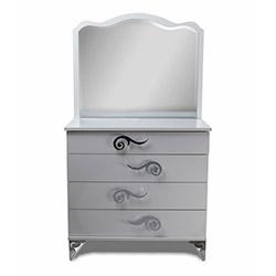 Gülpare Aynalı Şifonyer - Beyaz