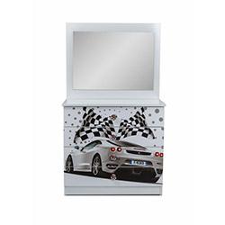 Ferrari Aynalı Şifonyer - Beyaz