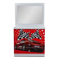 Ferrari Aynalı Şifonyer - Kırmızı