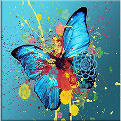 Arte P1359 Kelebek Kanvas Tablo - 30x30 cm