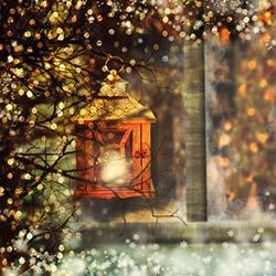 Duvar DYLC 7055 Mum Efektli Led Işıklı Tablo - 50x70 cm