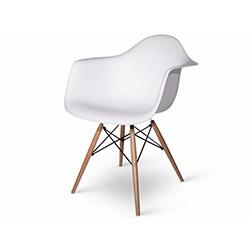 Eames Kolçaklı Sandalye - Beyaz