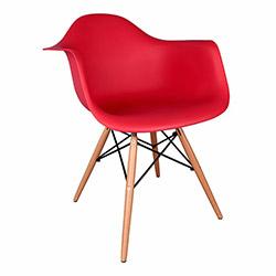 Eames Kolçaklı Sandalye - Kırmızı