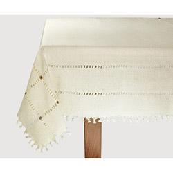 Bedinn Naturel Cendere Masa Örtüsü (Gümüş) - 140x140 cm