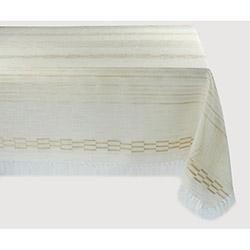 Bedinn Naturel Safir Masa Örtüsü (Krem/Kahverengi)- 160x220 cm