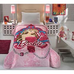 Mink Lisanslı Barbie Tek Kişilik Battaniye - 20 Pembe
