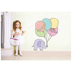 Secret Şirin Fil ve Balonlar Duvar Sticker - 21x26 cm