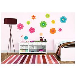 Secret Renkli Çiçekler Duvar Sticker - 21x26 cm