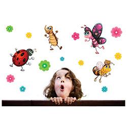 Secret Uğur Böceği ve Kankaları Duvar Sticker - 21x26 cm