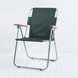 Ellnaz Ahşap Kollu Katlanır Piknik Sandalyesi - Yeşil