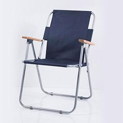 Ellnaz Ahşap Kollu Katlanır Piknik Sandalyesi - Lacivert