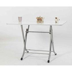 Ellnaz MS0011 Yana Yatan Mutfak ve Balkon Masası - Beyaz