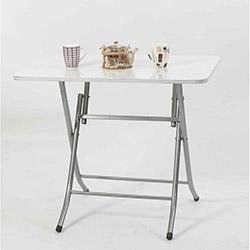 Ellnaz MS0021 Yana Yatan Mutfak ve Balkon Masası - Beyaz