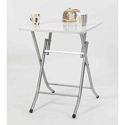 Ellnaz MS0051 Yana Yatan Mutfak ve Balkon Masası - Beyaz