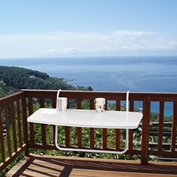 Ellnaz Balkon Masası - Beyaz