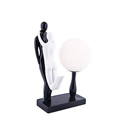 Valentin Masa Lambası - Beyaz