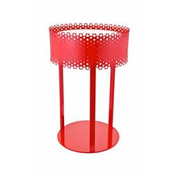 Aras Daire Ledli Masa Lambası - Kırmızı