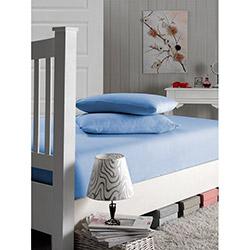Nefnef Home Rosemus Tek Kişilik Penye Çarşaf (Mavi) - 160x200 cm