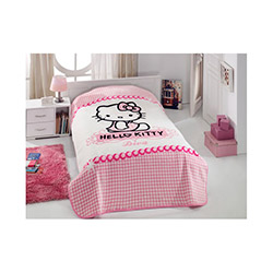 Hello Kitty Diva Çantalı Lisanslı Tek Kişilik Battaniye - Pembe