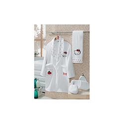 Hellor Kitty S Bornoz Seti (Beyaz) - 12/18 Yaş