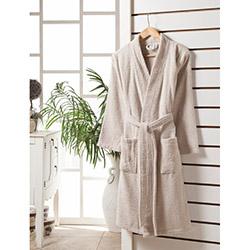 Rosemus Solid L/XL Kimono Bornoz - Kahverengi