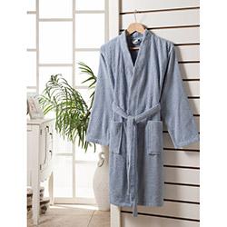 Rosemus Solid Kimono Bornoz (Mavi) - L/XL Beden