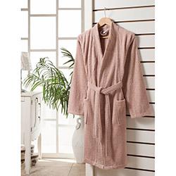 Rosemus Solid S/M Kimono Bornoz - Pudra
