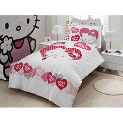 Hello Kitty Lisanslı 001 Valentino Tek Kişilik Nevresim Takımı