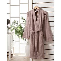 Rosemus Solid Kimono Bornoz (Sütlü Kahverengi) - S/M Beden