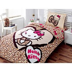 Hello Kitty Lisanslı Leopar Tek Kişilik Nevresim Takımı
