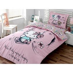 Hello Kitty Lisanslı Nature Tek Kişilik Nevresim Takımı