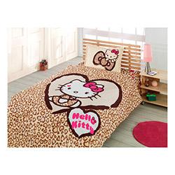 Hello Kitty Lisanslı Leopar Lady Tek Kişilik Complete Set