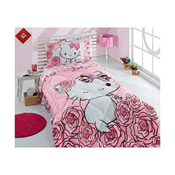 Hello Kitty Lisanslı Charmmy 2 Tek Kişilik Uyku Seti