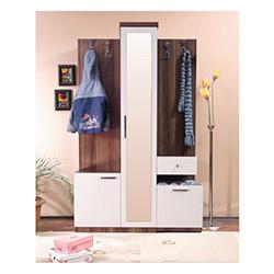 Comfy Home Yarasa Portmanto - Beyaz / Kahverengi