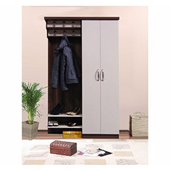 Comfy Home İpek Portmanto - Beyaz / Kahverengi