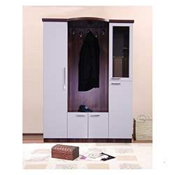 Comfy Home Doğan Portmanto - Beyaz / Kahverengi