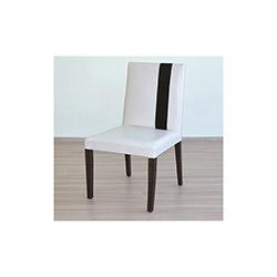 Comfy Home Venüs Kusaklı Sandalye - Beyaz / Siyah