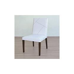 Comfy Home Venüs Çizgili Sandalye - Beyaz