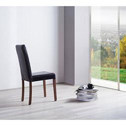 Comfy Home Giydirme Baklava Deri Sandalye - Siyah