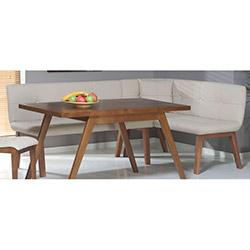 Comfy Home Amsterdam Ekbank Yemek Masası Takımı - Kahverengi / Krem