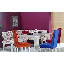 Comfy Home Floransa Ekbank Yemek Masası Takımı - Beyaz / Renkli