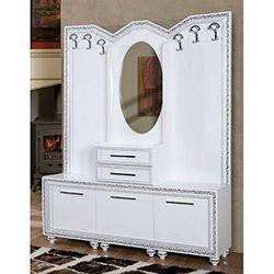 Comfy Home Sedef Portmanto - Beyaz