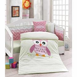 Erenev Baykuş Bebek Uyku Seti - Pembe
