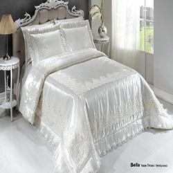 Diley Home Bella Çift Kişilik Yatak Örtüsü - Krem