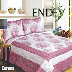 Endev Corona Pamuklu Çift Kişilik Yatak Örtüsü