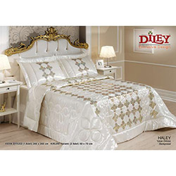Diley Home Haley Çift Kişilik Yatak Örtüsü - Krem