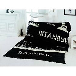 Saçlı İstanbul Çift Kişilik Battaniye