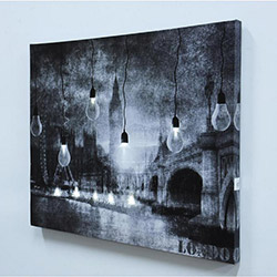 Londra Led Kanvas Tablo - 40 x 50 cm